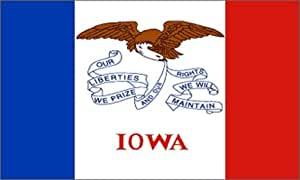 Freeshipping–3x 5ft Poliéster bandera de Estados Unidos --- Iowa # F215
