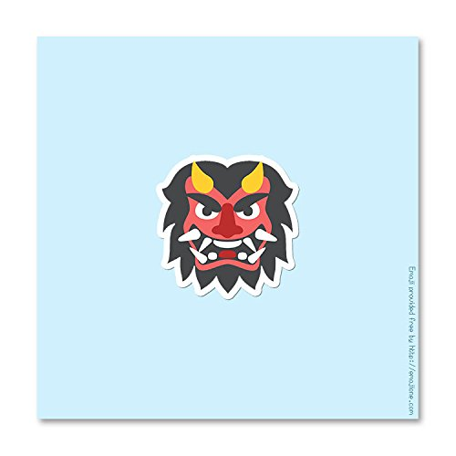 Devil Monster Mask Emoji - Vinyl Decal Sticker - 3.75
