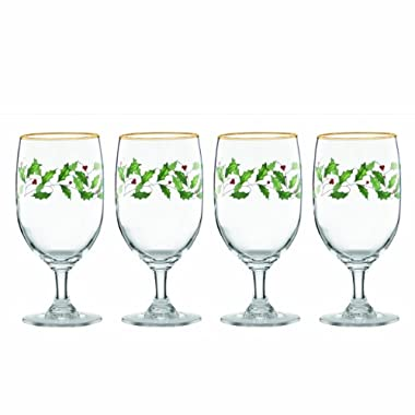 Lenox Holiday Iced Beverage Glasses, Set of 4,Ivory