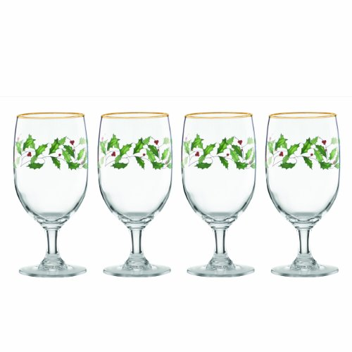Holiday Cheer Dinnerware Collection - Lenox Holiday Iced Beverage Glasses, Set of 4
