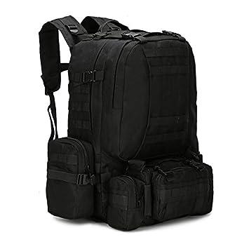Vinteky® Mochila impermeable militar táctica, compacta, capacidad 50 litros, negro: Amazon.es: Deportes y aire libre