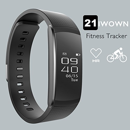 Fitness Tracker,iWOWNFit i6 HR Activity Tracker Smart Bracelet Work With Heart Rate Monitor 21 Multi-Sports Modes Sleep Monitor Calories Burns GPS Calendar Alarm Support iPhone Android Smartphone