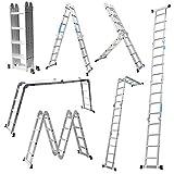 WG 4.7M ladder multi-purpose ladder folding ladder articulated ladder with platform 4x4 rungs aluminum ladder multifunction ladder combi ladder 6 in 1 ladder Ladder ladder made aluminum