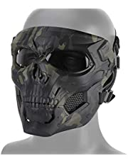 DETECH Paintball-tactische helm schedel masker ademend schieten jachtmasker mannen volledig gezicht airsoft militair Halloween party masker