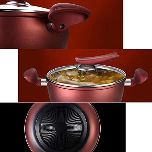 SHYOD Stock Pot, Marmite marmite à Soupe avec Couvercle, Double poignées résistant à la Chaleur, Non Toxique et Saine, Facile à Nettoyer et au Lave-Vaisselle