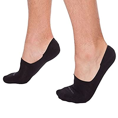 Calvin Klein 2 Pack No Show Mens Socks Black