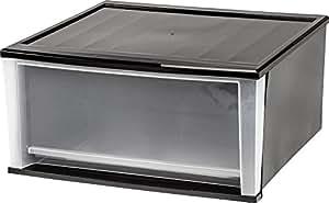 "20.6"" W Stacking Storage Drawer Color: Black"