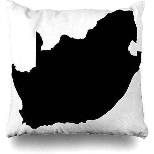 Staroatl Throw Pillow Cover High Outline Detailed Map South Africa Graphic Country Travel World Abstract Border Design Square Cushion Sofa Pillowcase 18 x 18 Inches Home Decor Pillow Case (Chair Covers Africa South Patio)