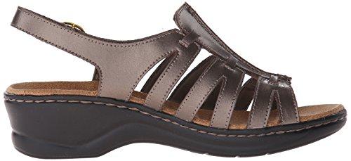 Q Leather B Marigold Lexi Women's Sandal Clarks 11 Pewter m vaPtpXx