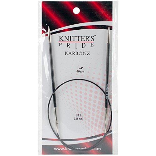 "UPC 499995158818, Knitter's Pride 3/3.25mm Karbonz Fixed Circular Needles, 24"""