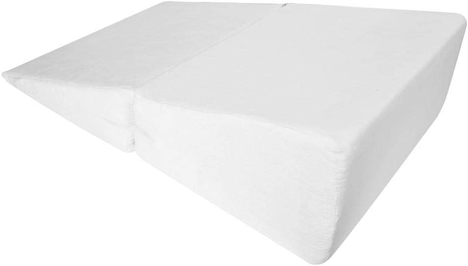 cama almohada de espuma para lectura para mujer embarazada tela de terciopelo interior apoyo para co/águlo sof/á EBTOOLS Almohada de cu/ña 60 x 15 x 15 cm.