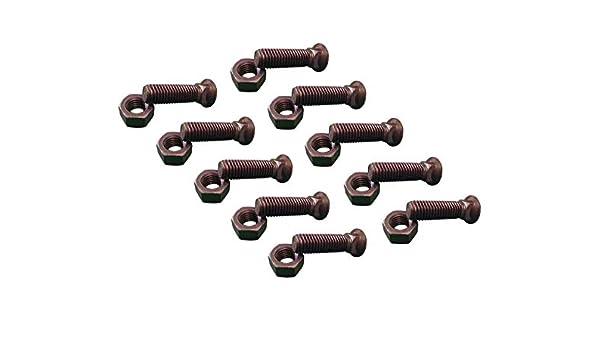 3//4-10X2 1//2 Grade 8 Dome Head 35 Plow Bolt /& Nut for Blades//Cutting Edge