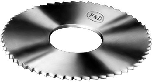 F&D Tool Company ACS2268 Solid Carbide Slitting Saws, 1'' Diameter, 0.045'' Width, 3/8'' Hole Size, 20 Teeth by F&D Tool Company