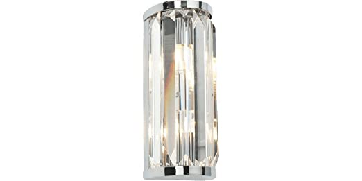 Saxby Crystal 18W Chrome Plated Clear Crystal Glass IP44 Luxury