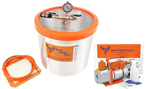 BVV Brand 5 Gallon Vacuum Chamber and 7CFM Single Stage Vacuum Pump (Pro Vac Vacuum Chamber compare prices)