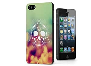 Snap-on Series Teléfono Carcasa Funda Case Caso para iPhone 5 / 5S , ( SWAG Skull )