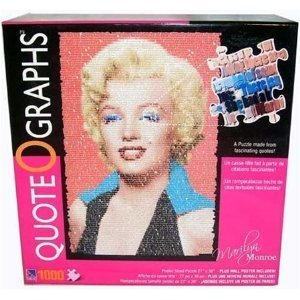 Quote O Graphs - Marilyn Monroe 1,000 Piece Puzzle -