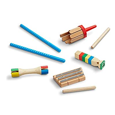 Melissa and Doug Band-in-a-Box Chime! Whistle! Jingle! Set: Toys & Games