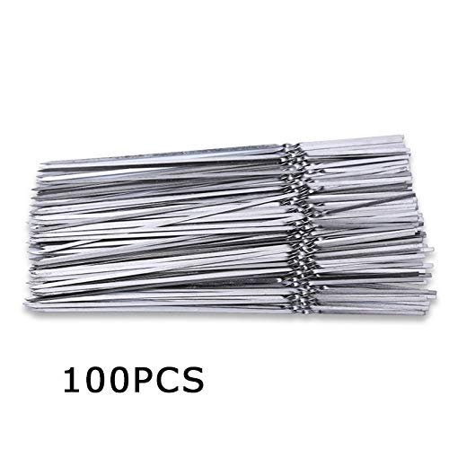 Annibus BBQ Grill Skewers 15/50/100 Pcs Stainless BBQ Sticks Steel for Skewer Reusable Barbecue Flat Needle Stick for Outdoor Camping Picnic Barbeque Tool