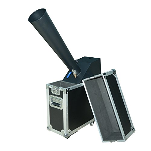 MOKA SFX Co2 Mini Blower Confetti Machine Manual Control with Gas Pipe 2kg Silver 2kg Golden Confetti Paper for Wedding Party Concert Flycase Packing ()