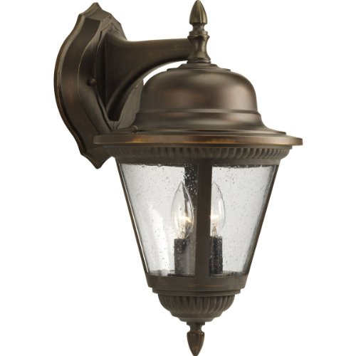 Progress Lighting P5864-20 2-Light Wall Lantern, Antique Bronze