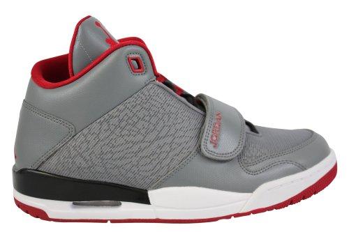 nike air jordan FLTCLB 90's mens hi top basketball trainers 602661 sneakers shoes (uk 8 us 9 eu 42.5, cool grey gym red black white)