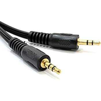 Kenable 3.5mm Male Audio Jack Plug to Plug Stereo Mini AUX Cable 0.15m (~6 inch) GOLD