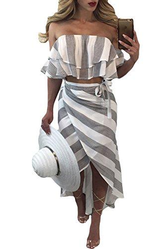 Ruffled Wrap Dress - 6