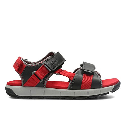 Clarks Jolly Crazy Jnr Boy's Casual Sandals Red Combi