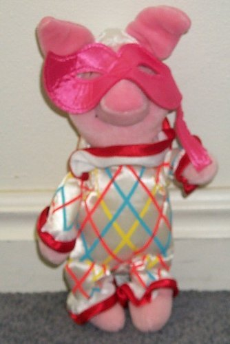 "Disney Winnie the Pooh Party Mardi Gras Carnival 8"" Piglet Doll"