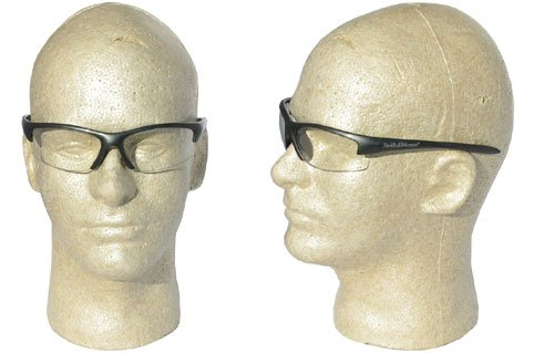 Smith and Wesson Safety Glasses with Gun Metal Frame and Anti-Fog Clear Lens
