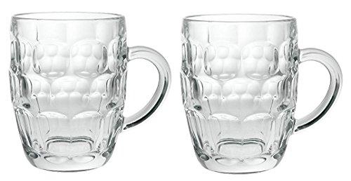 (Arcoroc Britannia Set of 2 British Glass Beer Mug 20oz / 1 Pint)