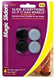 Magic Sliders 04225 7/8'' To 1'' Round Self Gripping Magic Sliders 4 Count