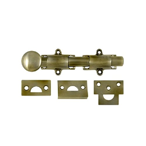 Deltana 6SB5 HD Solid Brass 6-Inch Surface Bolt