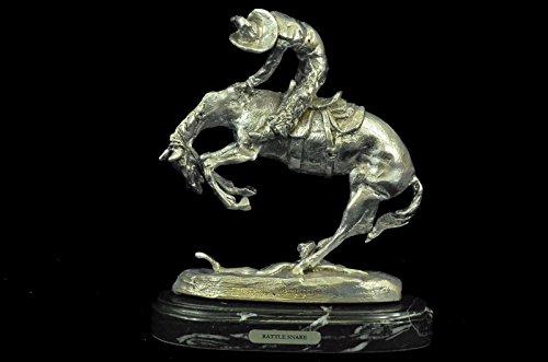 ...Handmade...European Bronze Sculpture Rare Silver Plate...