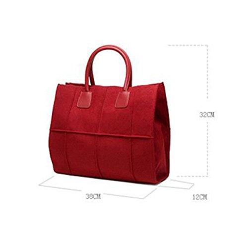 Signora Festa Libero Metallo Scatta Borsa Tracolla Tempo Shopping Quadrati Da Borse Le Il Grandi A La Moda Elegante Semplice Red In Hg0wq