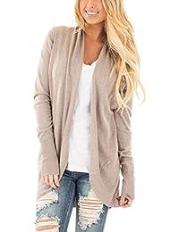 Women's Soft Knit Sweater Outwear Open Front Kimono Cardigans