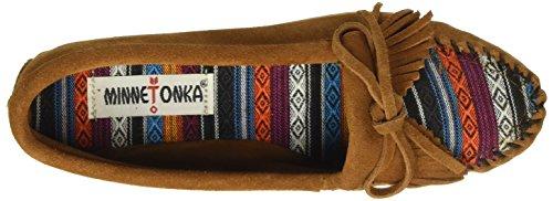 Minnetonka Women's, Arizona Kilty Slip-on Moccasin Brown Suede 9 M by Minnetonka (Image #7)