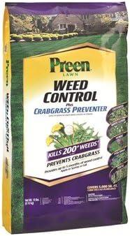 La Sucia jardinero Preen Control de malas hierbas y crabgrass preventerl gránulos, cubre 5.000 pies cuadrados, Duran Hasta 5 meses.: Amazon.es: Jardín