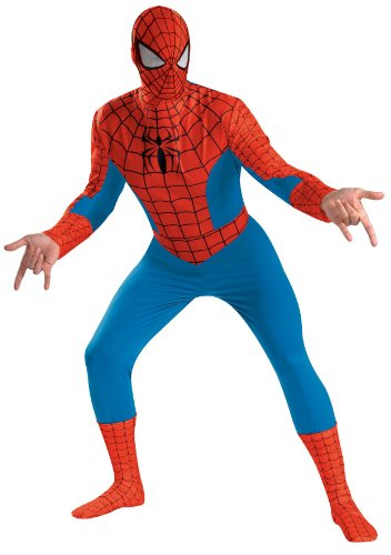[Disguise Men's Marvel Spider-Man Deluxe Costume, Blue/Red, X-Large] (Red Samurai Adult Costumes)
