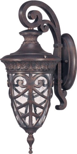 Down Arm Light 1 (1 Light - Arm Down Small Wall Lantern - Seeded Glass)