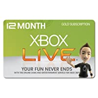 Xbox Live Gold 12-Month Membership Subscription