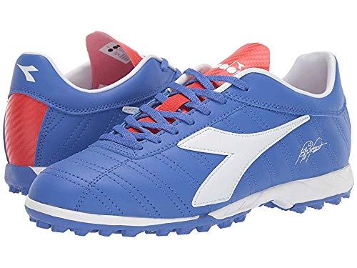 Diadora Men's Baggio 03 R TF Amparo Blue/White/Grenadine 9 D US (Diadora Soccer Cleats Turf)