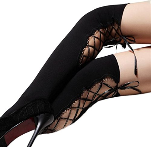 Stockings,Tosangn Sexy Womens Thigh-highs Bind Socks Hosiery(Black) (Hosiery Sexy)