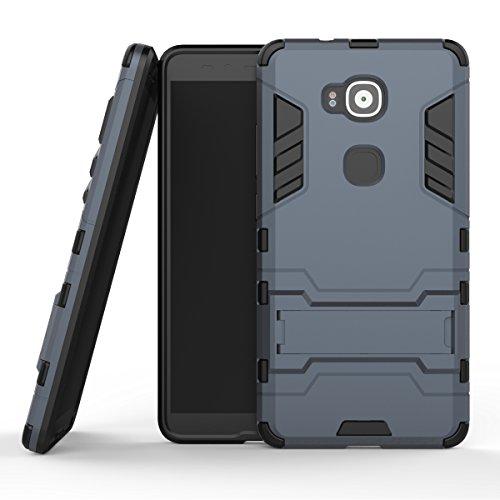 MOONCASE Huawei G8 Funda, [Heavy Duty] Híbrida Rugged Armor Case Choque Absorción Protección Dual Layer Bumper Carcasa con...