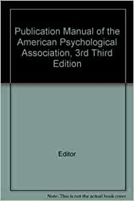 an analysis of the publication manual of the american psychological association The method of interpreting dreams: an analysis of a specimen dream  (1994)  publication manual of the american psychological association (4th ed.