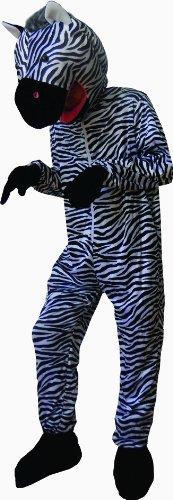 [Dress Up America Sweet Striped Zebra Costume - Adult] (Zebra Head Costumes)