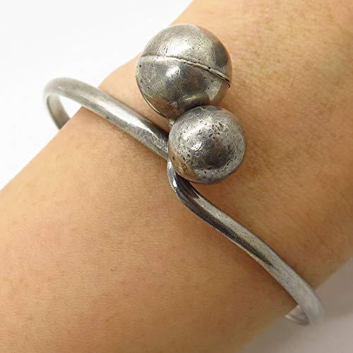 VTG 925 Sterling Silver Modernist Hollow Ball
