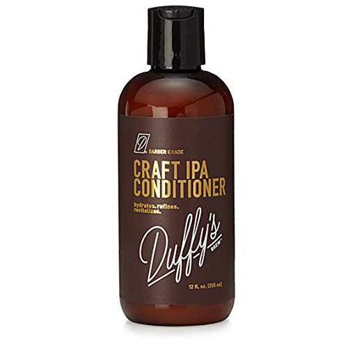 Duffys Brew Premium IPA Craft Beer Conditioner - 12oz. Sulfate, Paraben & Phthalate Free. 100% Vegan. Moisturizes, Nourishes, Seals, Protects & Color Safe … (12 fl oz)
