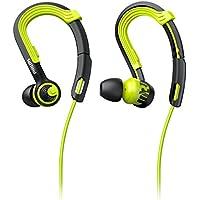 Philips SHQ3400CL/00 In-Ear Sport Headphones (Adjustable Earhook, Water Resistance, Kevlar Reinforced Cable) - Lime/Black